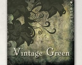 ETSY SHOP BANNERS Vintage Green Etsy Shop Banner Set