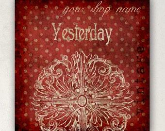 ETSY SHOP BANNERS Yesterday Vintage Etsy Shop Banner Set