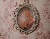 Filigree frame with madonna and the child, Dollhouse miniature, scale 1:12