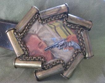 45 Magnum, Gun in face, belt Buckle