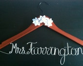FALL SALE 15% OFF -- Personalized Wedding Hanger