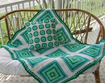 Crochet blanket, granny square blanket, babyblanket