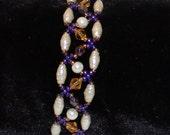 Pearl and Purple Varia Bracelet