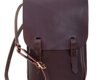 Leather A4 Saddle Bag Brown