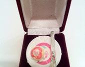 Pink Flower Cupcake Plate Ring