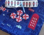 London FQ bundle - fabric, ribbon & buttons - Jubilee - Olympics