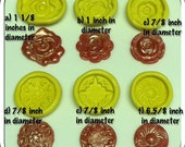 Set of 6 pieces of button applique silicone molds