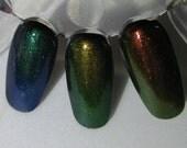 Phoenix Dragon Unicorn Duochrome Color Shifting Mythological Top Coat Trio Custom Nail Polish 15mL each