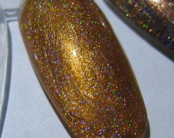 Blaze Crystal Orange Holographic Custom Nail Polish Holo 5mL