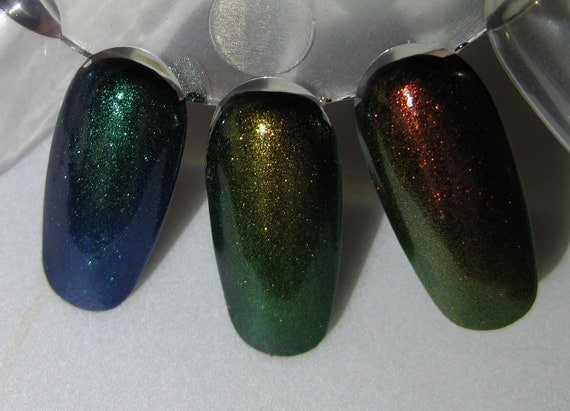 Phoenix Dragon Unicorn Duochrome Color Shifting Mythological Top Coat Trio Custom Nail Polish 15mL each