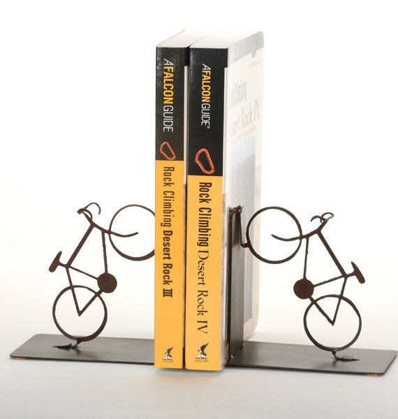 Bicycle Bookends on Etsy shop
