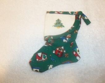 Christmas Tree on Christmas Stocking Ornament
