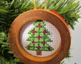 Folk Art Christmas Tree Christmas Tree Ornament