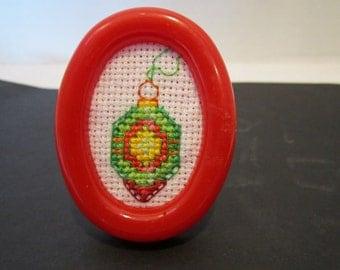 Miniature Framed Christmas Ornament
