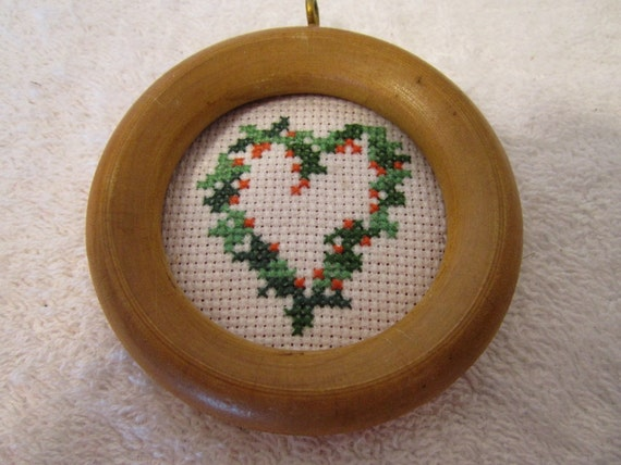 Folk Heart Christmas Tree Ornament