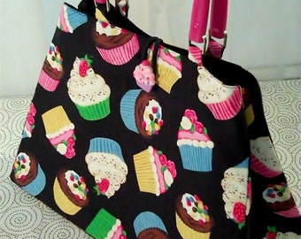 Cupcake Chloe Bag with Hot Pink Handles