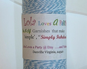 Bakers Twine - 240 Yards Powder Blue Twisted Twine - Stationery, Packages, Homemade Gifts, Tags, Cards, DIY, Crafts, Shower, Party