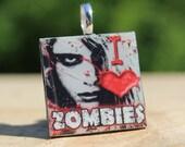 I Love Zombies Pendant