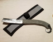 Hand Forged Straight Razor Tactical Skinning Knife