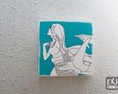 Blue mermaid art block