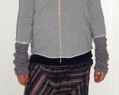 violet striped harem pants , made in denmark, danish design