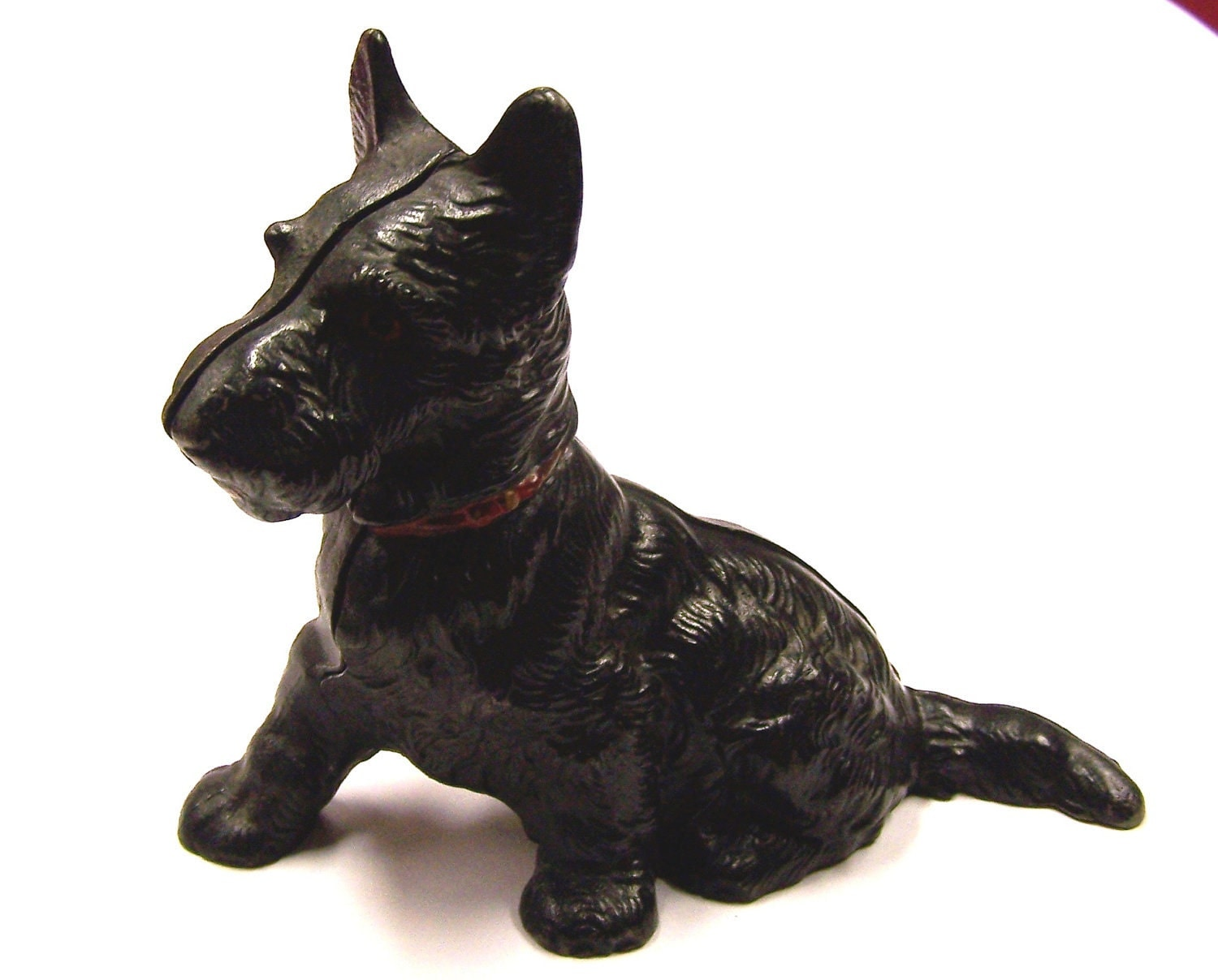 vintage hubley cast iron scottie dog still bank. Black Bedroom Furniture Sets. Home Design Ideas