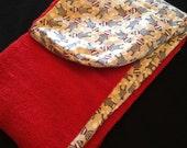 Childern's Hooded Bath Towel Sock Monkey Fabric Ready to ship