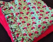 Childern's Hooded Bath Towel Lady Bug Print Fabric Ready to ship