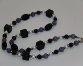 "Purple Passion, Handmade Necklace 23"" Loving Crafted from Grandma's Vintage Beads, Pearls, Gemstones"
