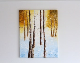 SNOW 20 x 16 oil painting on stretched canvas