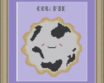 Cow pie: cross-stitch pattern