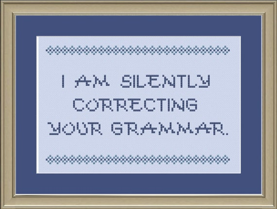 Preposition In Learn In Marathi All Complate: I Am Silently Correcting Your Grammar: Cross-stitch Pattern