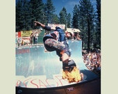 Lance Mountain Eighties Skateboarding Photograph 18 x 24 Inch Paper Sports Photograph