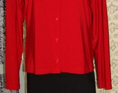 Vintage 80 s' red  blouse