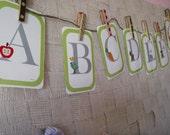 ITEM CLOSEOUT!! Green Alphabet Card Set