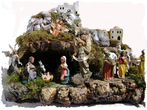 Mountain and Cave Nativity Scene