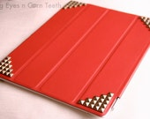 iPad smart cover, iPad Leather cover - Red color