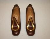 rosina ferragamo,rosina ferragamo schiavone,ferragamo schiavone,brown leather heels,brown leather shoes,leather women heels,women high heels