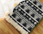 Hand-woven 100% Cotton Blanket-95x59inch-240x150cm