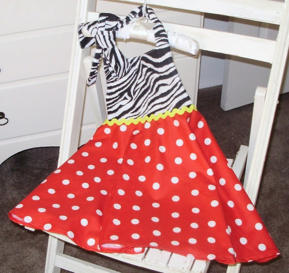 Toddler Girls Halter Sun  Dress Size 4T 5T Ready to Ship