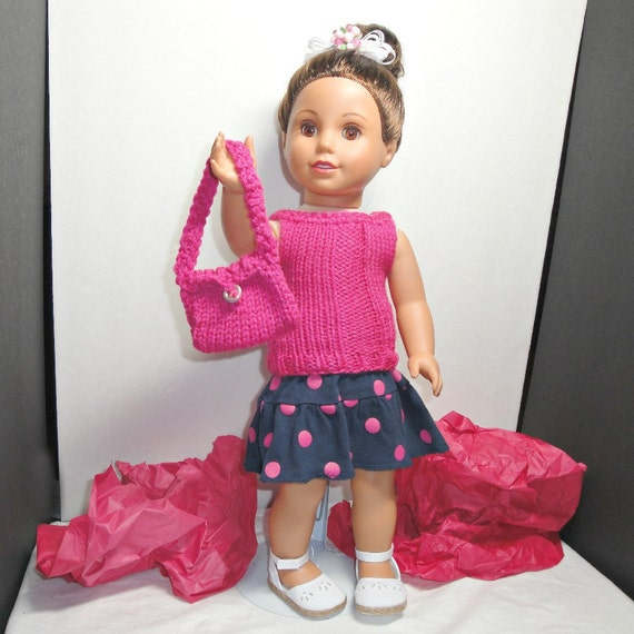 """American Doll Clothes 18 in Unique OOAK Handmade 3 pc Outfit - """" Sight Seeing"""""""