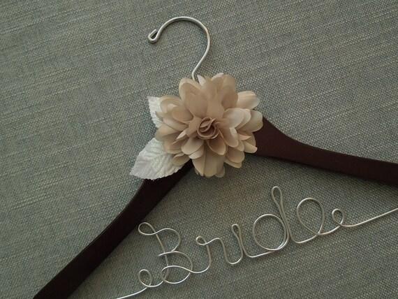 Elegant Bridal Hanger, Bridal Shower Hanger, Custom Wedding Hanger, Wedding Dress Hanger