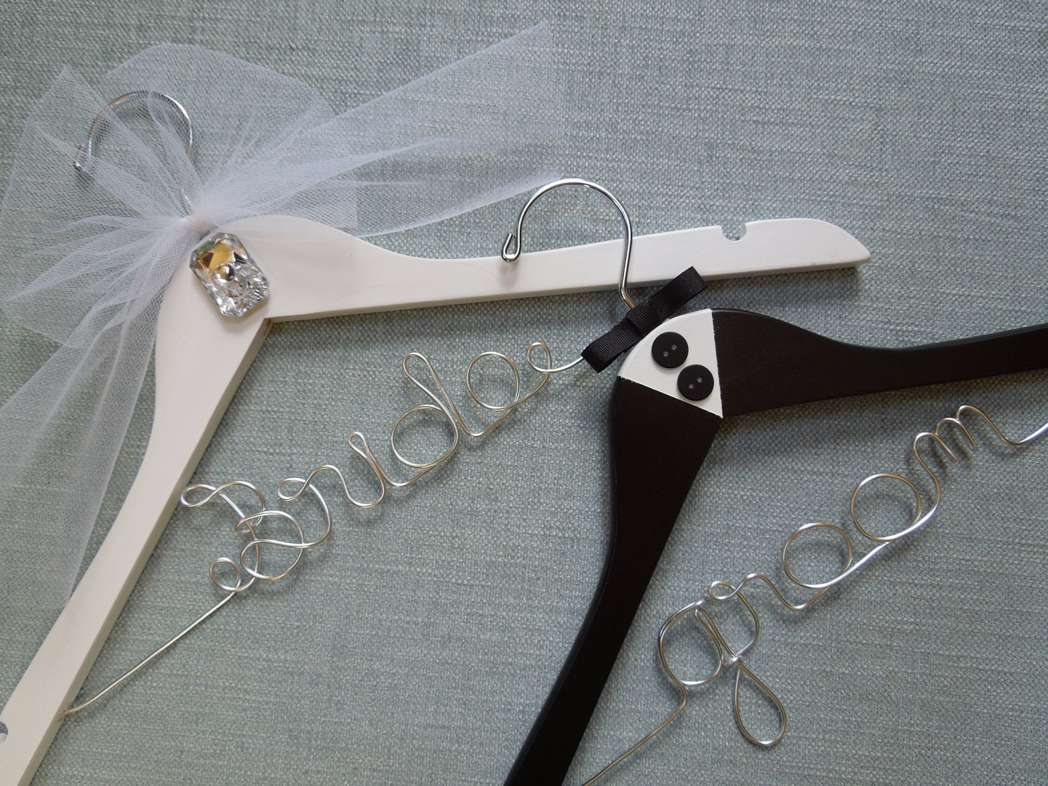 Wedding Shower Gift For Groom : Bride and Groom Wedding Hangers Bridal Shower Gift Wedding