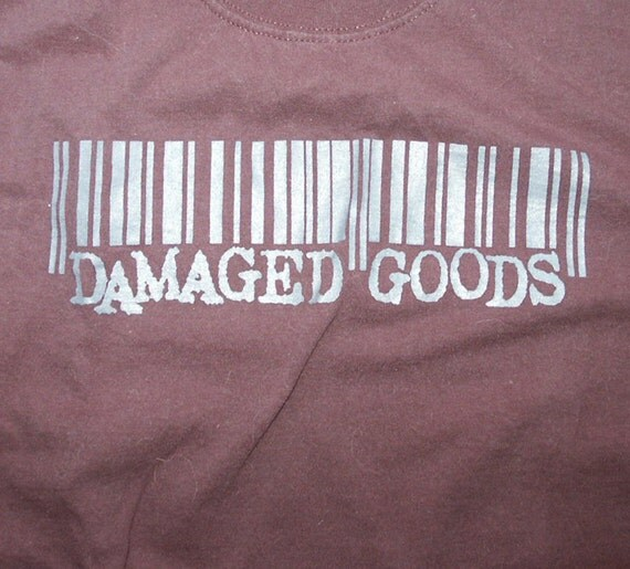 Damaged Goods Records punk label tee shirt