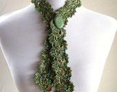 Elegance Lace Tie in Lime Ocean by Melanie Rice - novelty crochet