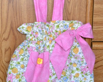 Pink & Yellow Bow Bag