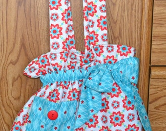 Red & Turquoise Bow Bag