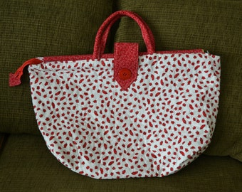 Red Lips Over-sized Tote Bag
