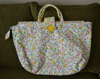Yellow Flower Over-Sized Tote Bag