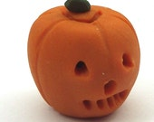 Halloween Pumpkin 1/12 scale dollhouse miniature Jack o Lantern